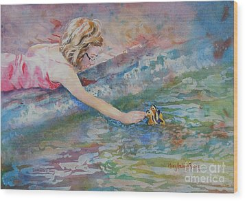 Wood Print featuring the painting Summer's Day by Mary Haley-Rocks