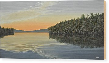 Wood Print featuring the painting Summers End by Kenneth M  Kirsch