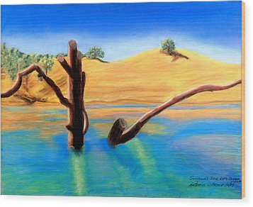 Summer's End    Pastel Wood Print