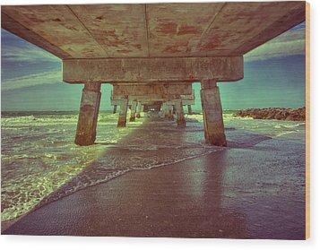 Summers Under The Pier Wood Print by Nicholas Evans
