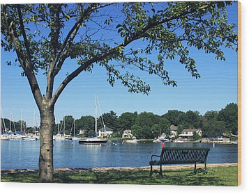 Wood Print featuring the photograph Summertime At The Marina by Aurelio Zucco
