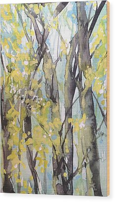 Summertime In The South Wood Print by Robin Miller-Bookhout