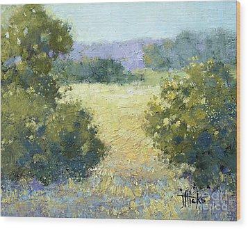 Summertime Landscape Wood Print by Joyce Hicks