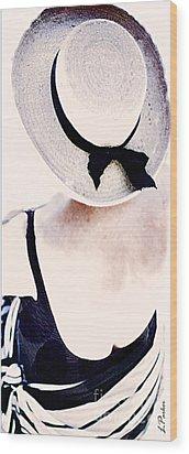 Summertime Wood Print by Linda  Parker