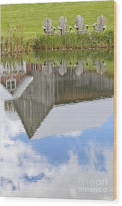 Summertime Reflections Wood Print