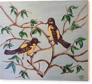 Wood Print featuring the painting Summertime by Sheri Keith