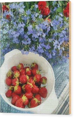 Summertime Table Wood Print by Michelle Calkins