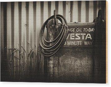 Sump Wood Print by Tim Nichols