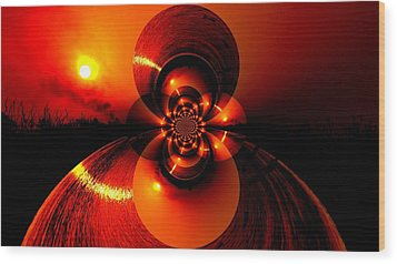 Sun Abstraction-3 Wood Print by Anand Swaroop Manchiraju
