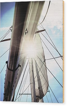 Sun And Sails Wood Print