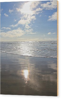 Sun And Sand Wood Print by Athena Mckinzie