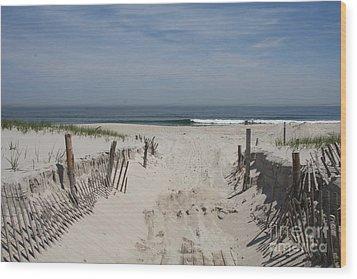 Sun And Sand Wood Print