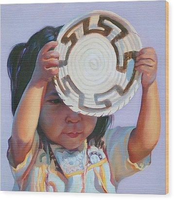 Sun And Shield Wood Print