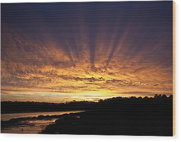 Wood Print featuring the digital art Sun Blast by David Davies
