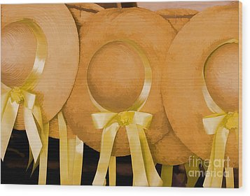 Wood Print featuring the photograph Sun Bonnets by Nigel Fletcher-Jones
