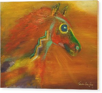 Wood Print featuring the painting Sun Dance by Barbie Batson