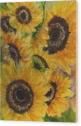 Sun Danse Wood Print by France Laliberte