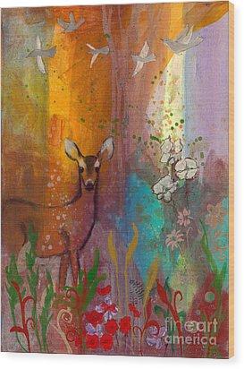 Sun Deer Wood Print