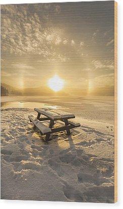 Sun Dog Wood Print