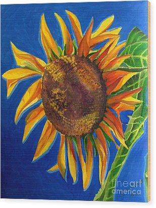 Sun Flower Wood Print by Grace Liberator