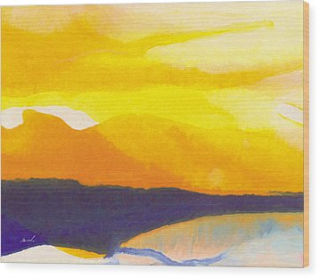 Wood Print featuring the painting Sun Glazed by The Art of Marsha Charlebois