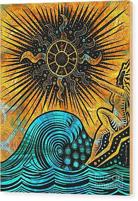 Big Sur Sun Goddess Wood Print by Joseph J Stevens