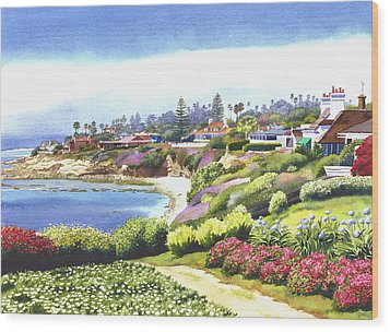 Sun Gold Point La Jolla Wood Print by Mary Helmreich