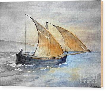 Sun In The Sails  Wood Print by Eleonora Perlic