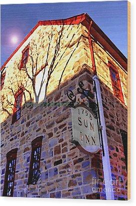 Sun Inn Bethlehem Pa Wood Print by Jacqueline M Lewis