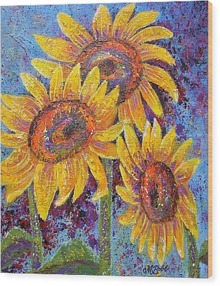 Sun-kissed Beauties Wood Print