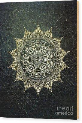 Sun Mandala - Background Variation Wood Print by Klara Acel