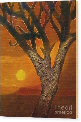 Sun Of Africa Wood Print by Lutz Baar