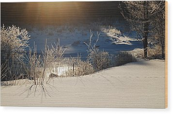 Wood Print featuring the photograph Sun On Snow by Mim White