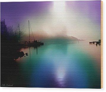Sun Peeking Through The Clouds  In Kenmore Washington Wood Print