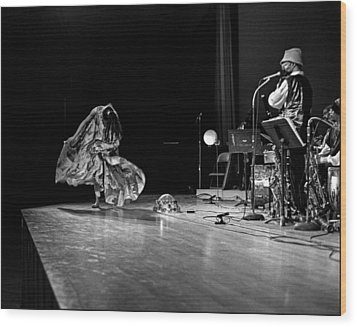 Sun Ra Dancer And Marshall Allen Wood Print by Lee  Santa
