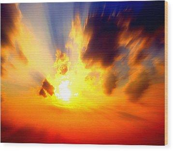 Sun Rays Wood Print by Jose Lopez