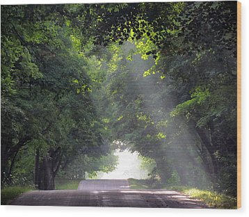 Sun Rays On Waters End Road Wood Print by David T Wilkinson