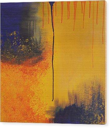 Sun Rising Wood Print by Kristine Bogdanovich