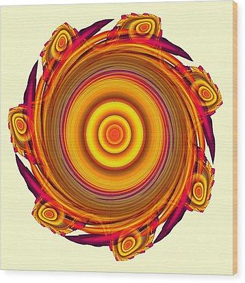 Sun Salutation Wood Print by Anastasiya Malakhova