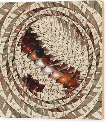Sun Sand Shadows Wood Print by Anastasiya Malakhova