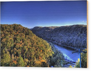 Wood Print featuring the photograph Sun Setting On Fall Hills by Jonny D