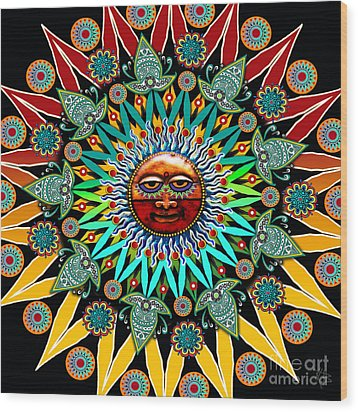 Sun Shaman Wood Print