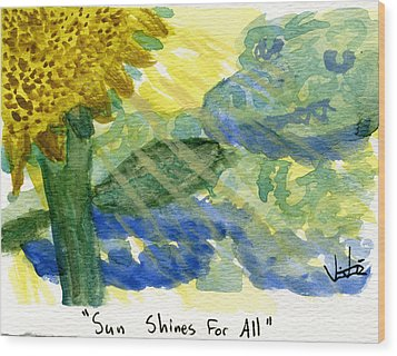 Sun Shines For All II Wood Print