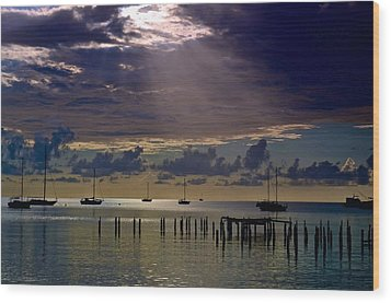 Wood Print featuring the photograph Sun Sneaking In by Ricardo J Ruiz de Porras