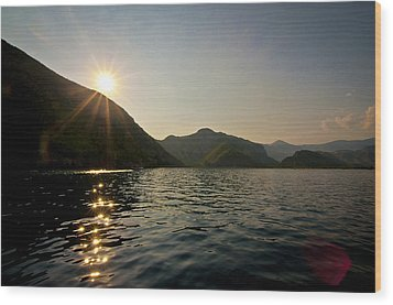 Wood Print featuring the photograph Sun Sparkles On The Mediterranean Sea by David Isaacson