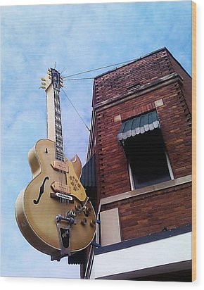 Sun Studio Entrance Wood Print by Suzanne Barber