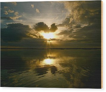 Wood Print featuring the photograph Sun Up  by Paul Foutz