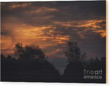 Sun Up Wood Print by Thomas Woolworth