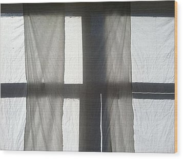 Sun Up Through Luke's Curtains Wood Print by Anna Villarreal Garbis