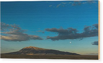 Sun Vs Moon Wood Print